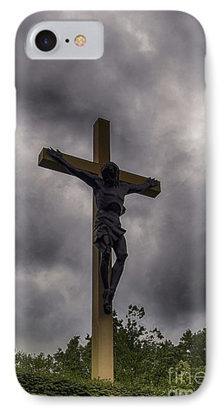 IPhone Case featuring the photograph Cross In The Woods  by JRP Photography