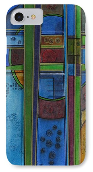 IPhone Case featuring the painting Cross Roads by Nicole Nadeau