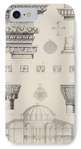 Cross Section And Architectural Details Of Kutciuk Aja Sophia The Church Of Sergius And Bacchus Phone Case by D Pulgher