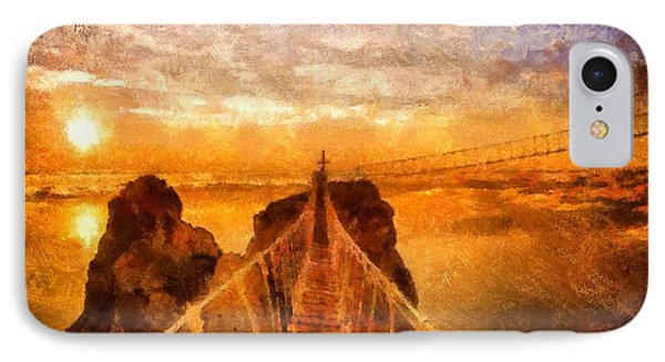 Cross That Bridge IPhone Case by Catherine Lott