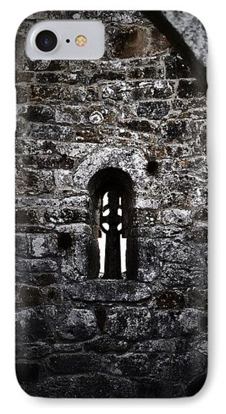 Crosses And Stone Walls At Clonmacnoise IPhone Case by Nadalyn Larsen