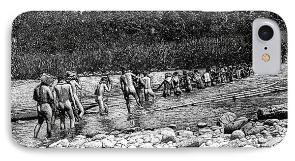 Crossing A River In Vietnam IPhone Case by Science Photo Library