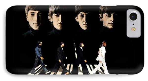 Crossing Into History The Beatles  IPhone Case