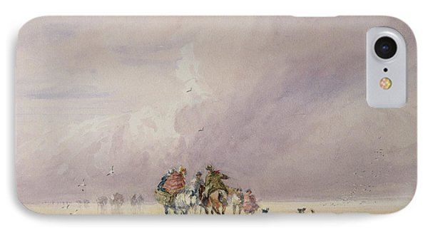 Crossing Lancaster Sands Phone Case by David Cox