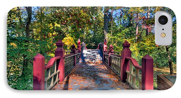 Crossing The Crim Dell Bridge IPhone Case by Jerry Gammon