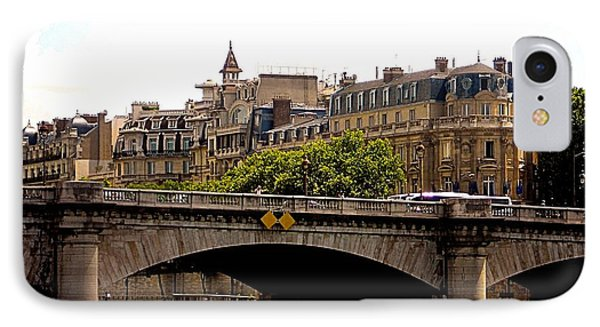 Crossing The Seine Phone Case by Lauren Leigh Hunter Fine Art Photography
