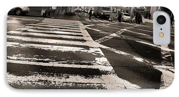 Crosswalk In New York City Phone Case by Dan Sproul