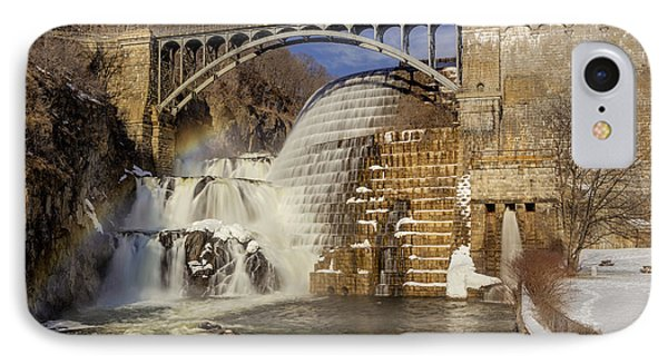 Croton Dam And Rainbow IPhone Case by Susan Candelario