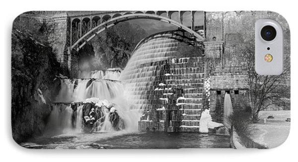 Croton Dam Bw IPhone Case by Susan Candelario