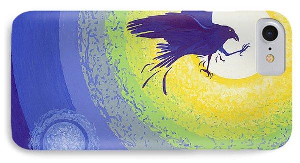 Crow, 1999 Gouache On Paper IPhone Case by Derek Crow