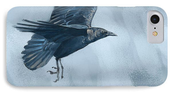 IPhone Case featuring the digital art Crow by Aaron Blaise