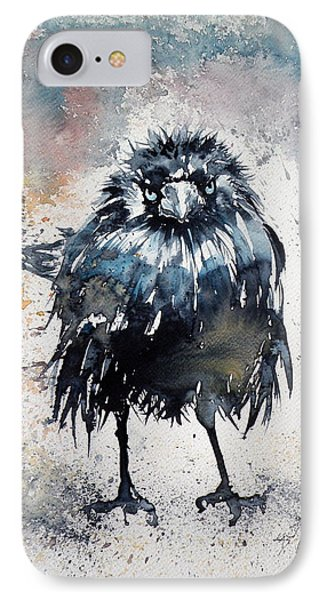 Crow After Rain IPhone Case by Kovacs Anna Brigitta