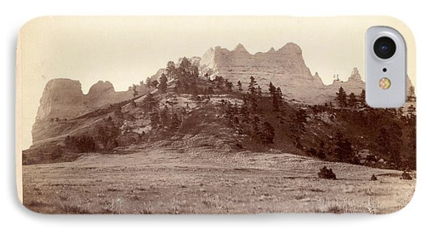 Crow Butte. Near Ft. Robinson, Neb. And F.e. & M.v. R.r. -- IPhone Case by Litz Collection