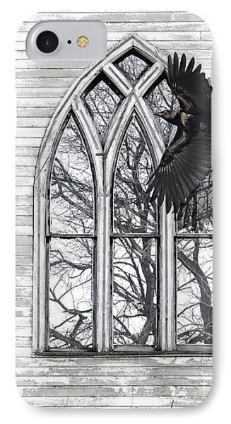 Crow Church IPhone Case by Judy Wood