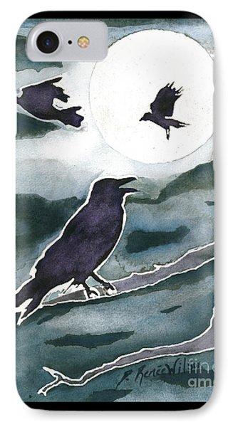 Crow Moon IPhone Case by D Renee Wilson