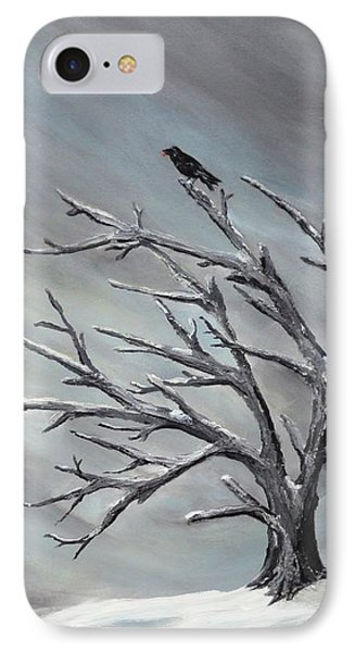 Crow In Tree IPhone Case