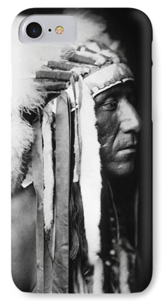 Crow Indian Man Circa 1905 IPhone Case by Aged Pixel