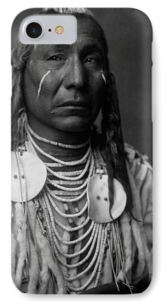 Crow Indian Man Circa 1908 IPhone Case by Aged Pixel
