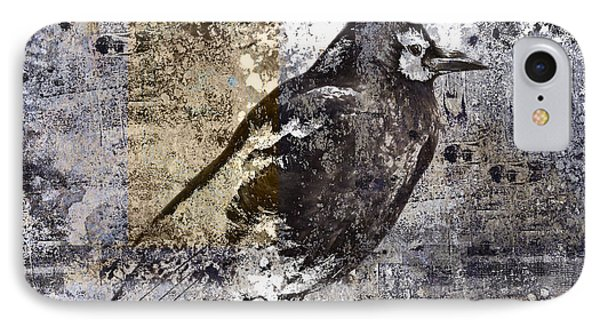 Crow Number 84 IPhone Case by Carol Leigh