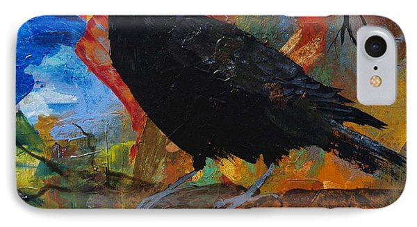 Crow On A Branch IPhone Case by Robin Maria Pedrero