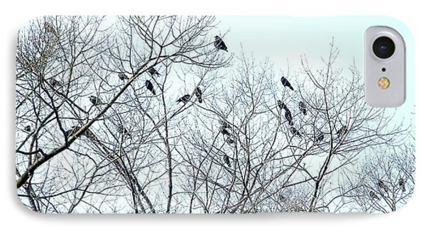 Crow Trees IPhone Case by Marc Philippe Joly