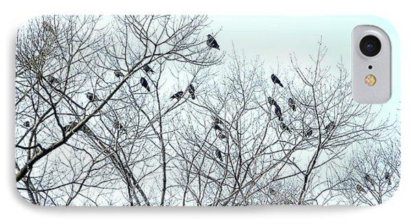 Crow Trees IPhone Case
