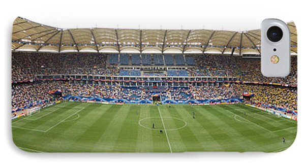 Crowd In A Stadium To Watch A Soccer IPhone Case