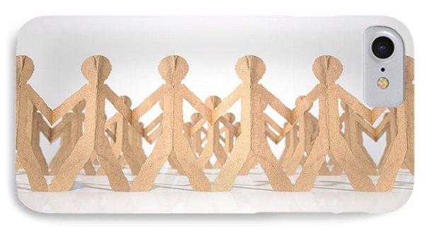 Crowd Of Cutout Paper Cardboard Men IPhone Case