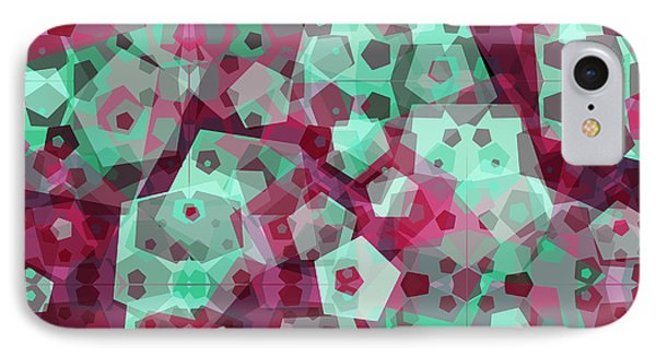 Crowd Of Pentagons IPhone Case by Shawna Rowe