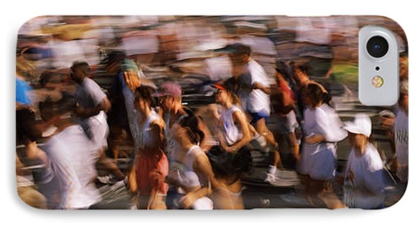 Crowd Participating In A Marathon Race IPhone Case by Panoramic Images