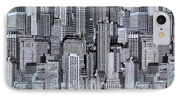Crowded City IPhone Case by Bedros Awak