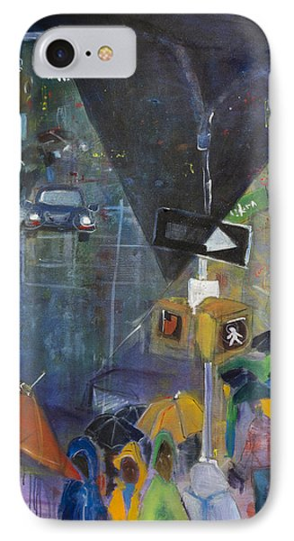 Crowded Intersection IPhone Case by Leela Payne