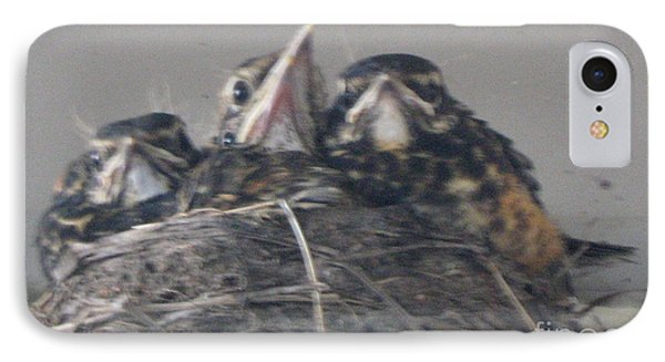 IPhone Case featuring the photograph Crowded Nest by Wendy Coulson