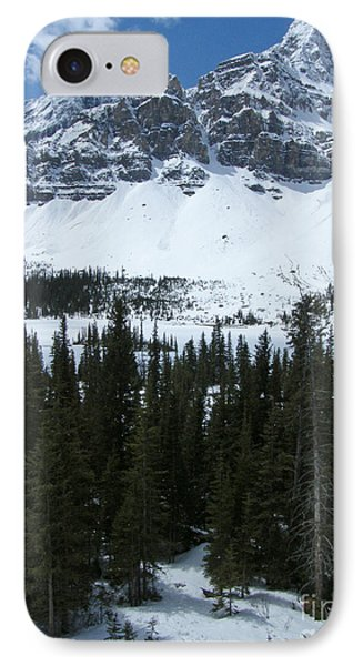 Crowfoot Mountain - Canada IPhone Case by Phil Banks