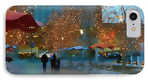 Crown Center Christmas IPhone Case by Ellen Tully