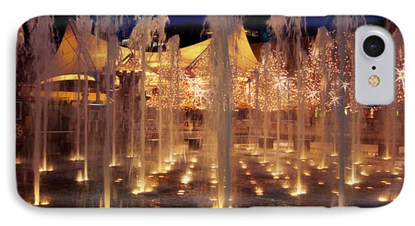 Crown Center Fountain At Christmas IPhone Case by Ellen Tully