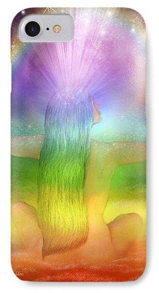 Crown Chakra Goddess Phone Case by Carol Cavalaris