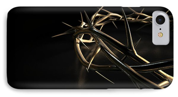 Crown Of Thorns Gold On Black IPhone Case