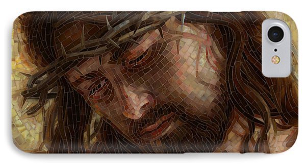 IPhone Case featuring the painting Crown Of Thorns Glass Mosaic by Mia Tavonatti