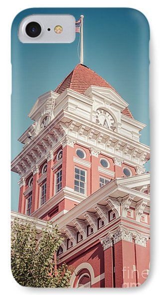 Crown Point Courthouse Retro Photo IPhone Case by Paul Velgos