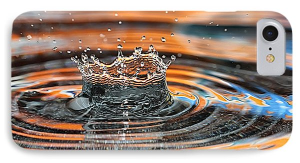 IPhone Case featuring the photograph Crown Shaped Water Drop Macro by Teresa Zieba