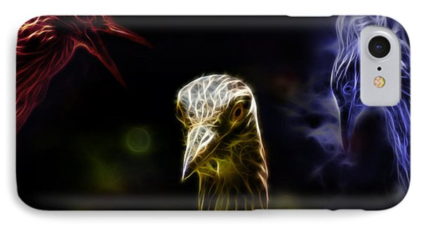 Crowned Heron - 5466 Fa Phone Case by James Ahn