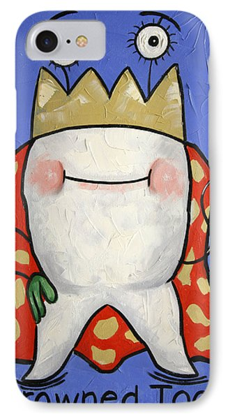Crowned Tooth Phone Case by Anthony Falbo