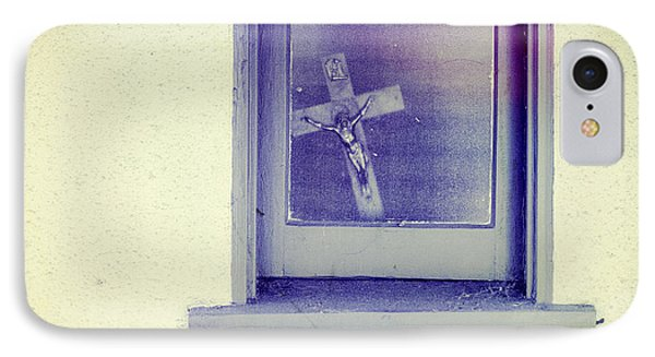 Crucifix In A Window IPhone Case by YoPedro