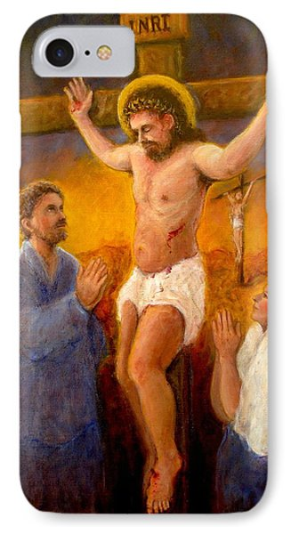 IPhone Case featuring the painting Crucifixion by Donelli  DiMaria