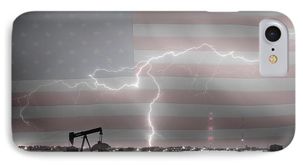 Crude Oil And Natural Gas Striking Across America Bwsc Hdr IPhone Case by James BO  Insogna