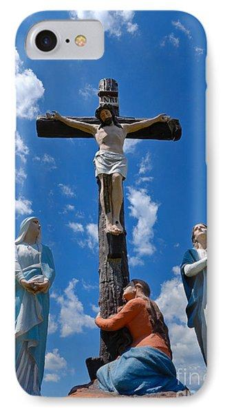 Cruficix Statue At Saint Alphonsus Church Wexford IPhone Case