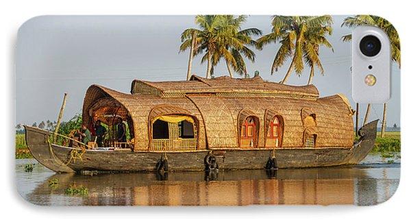 Cruise Boat In Backwaters, Kerala, India IPhone Case