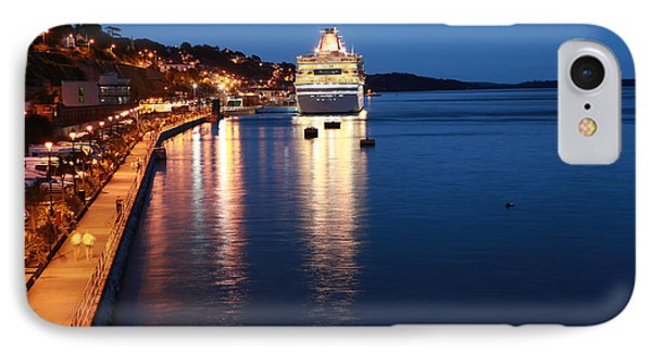 Cruise Liner At Cobh Harbour Phone Case by Maeve O Connell