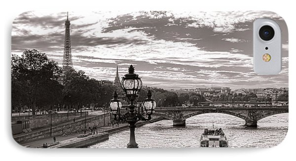 Cruise On The Seine IPhone Case by Olivier Le Queinec